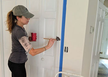 painting door trim